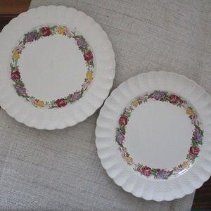 Set of 2 Copeland Spode Rose Briar Plate L862